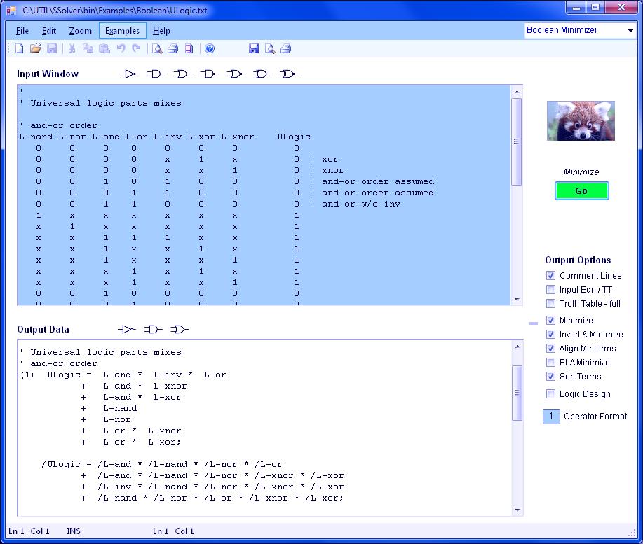 boolean logic minimizer software
